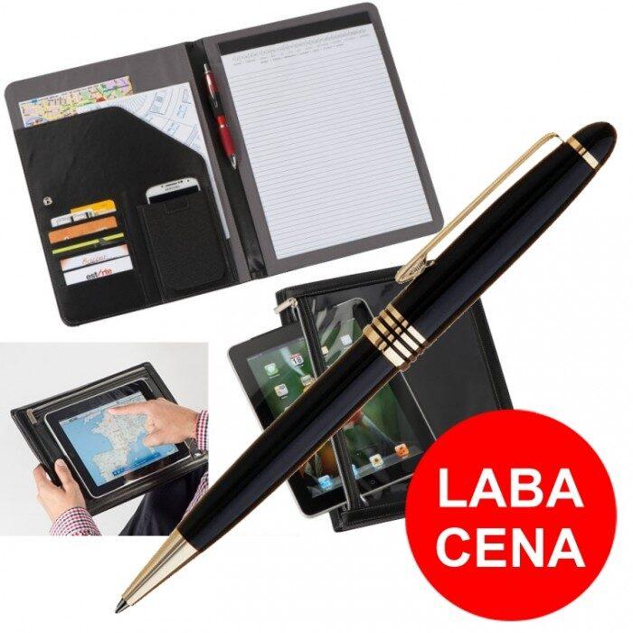 Solīda metāla pildspalva ar mapi UP-KLASIKA-MAPE-DD
