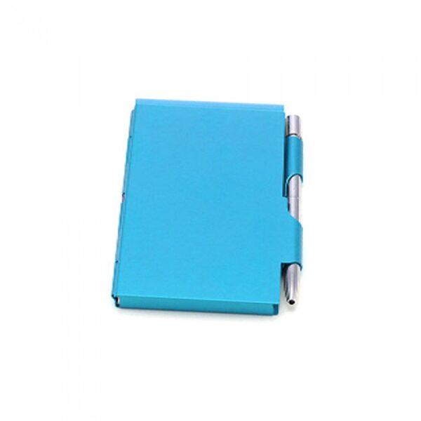 Blociņš metāla vāciņos 3539-BLUE-DD ar gravējumu