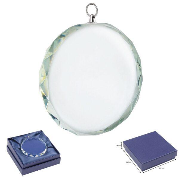 Stikla medaļa EL35144-DD ar gravējumu