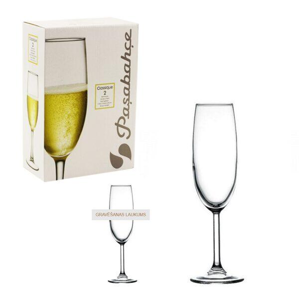 Šampanieša glāžu (2gab.) komplekts BK180251 ar gravējumu