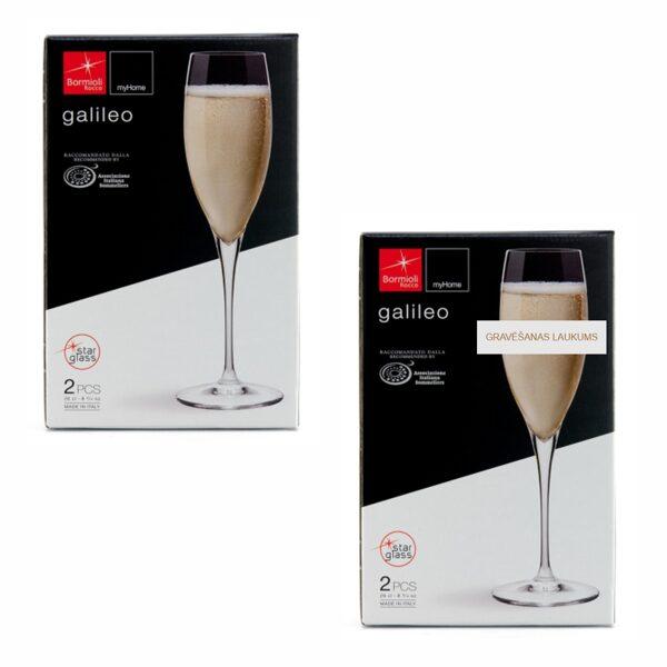 Šampanieša glāžu (2gab.) komplekts BK110058 ar gravējumu