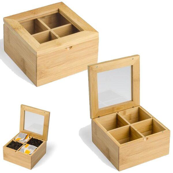 Koka kastīte tējai AS16504-DD ar gravējumu